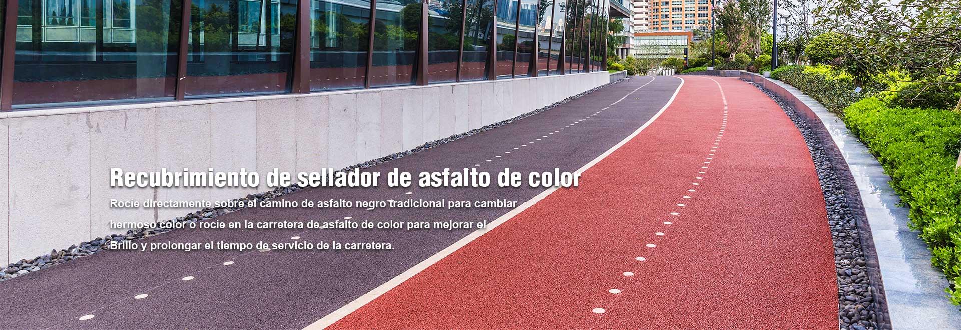 Recubrimiento de sellador de asfalto de color