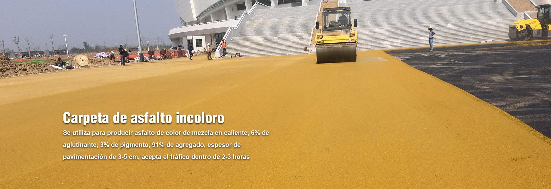 Pavimento poroso de asfalto de color