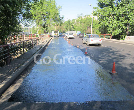 Proyecto de sellador de pavimento asfáltico en Kazajstán