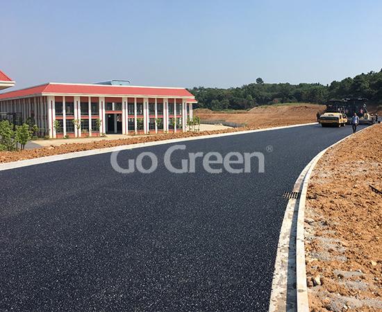 Go Green Black Proyecto de asfalto poroso en Suzhou