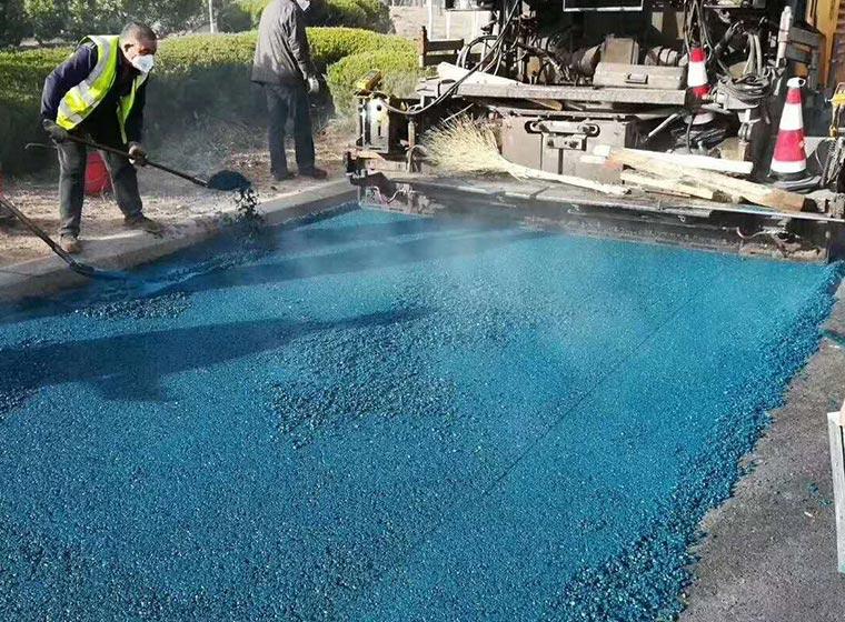 Carpeta de asfalto incoloro