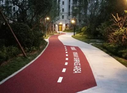 Pavimento de paisaje de tráfico ligero