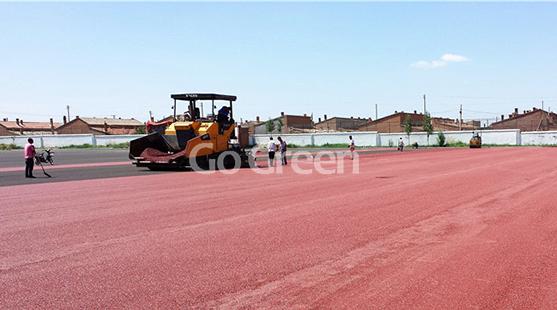 El último proyecto de asfalto en color en mongolia