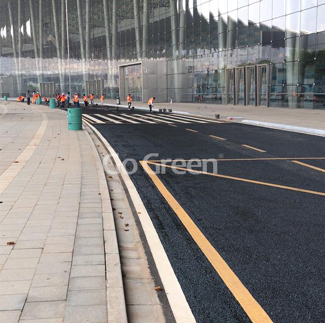 Proyecto de sellador de pavimento asfáltico del Centro Internacional de Exposiciones